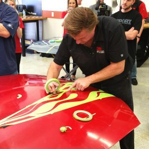 The Family Handyman learns how to use automotive tape from Chip Foose
