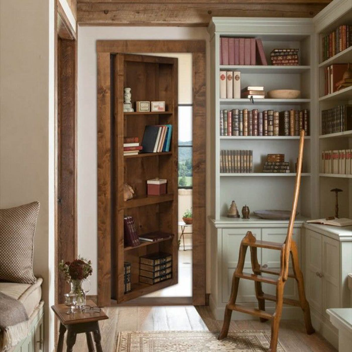 Hidden Bookcase Storage