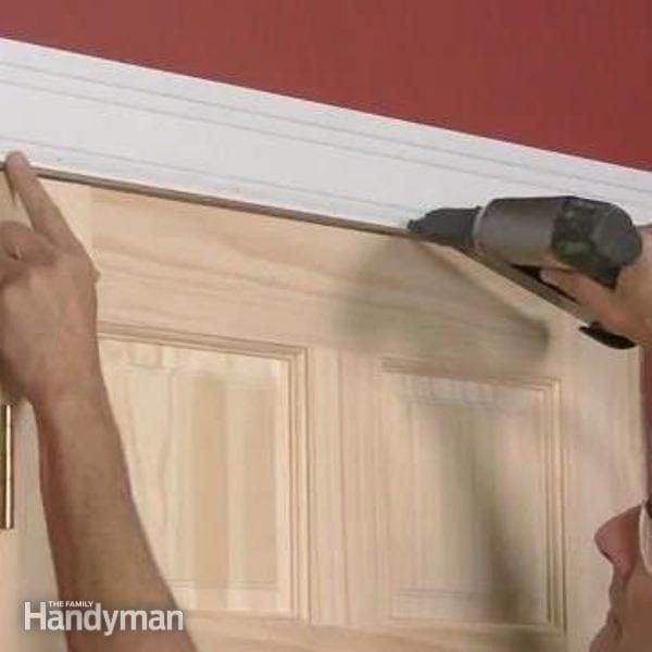 How To Trim A Door Family Handyman
