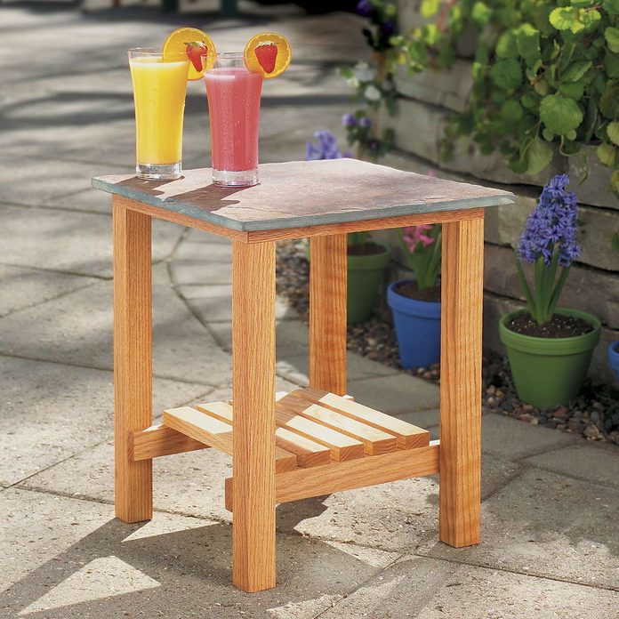 Stone-Top Patio Table