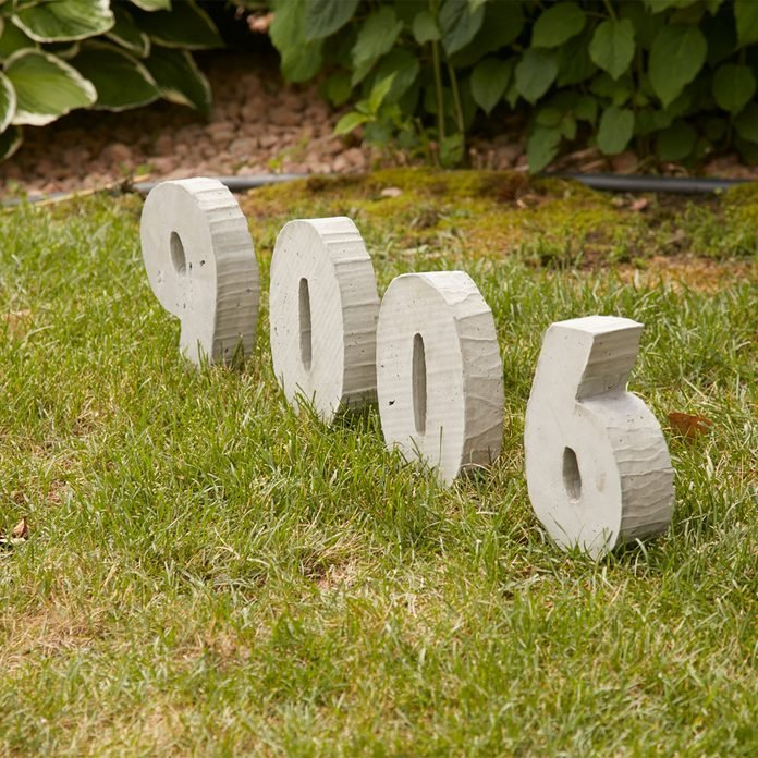 concrete house numbers