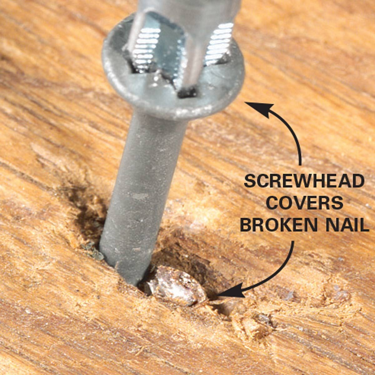 Replace loose, popped nails