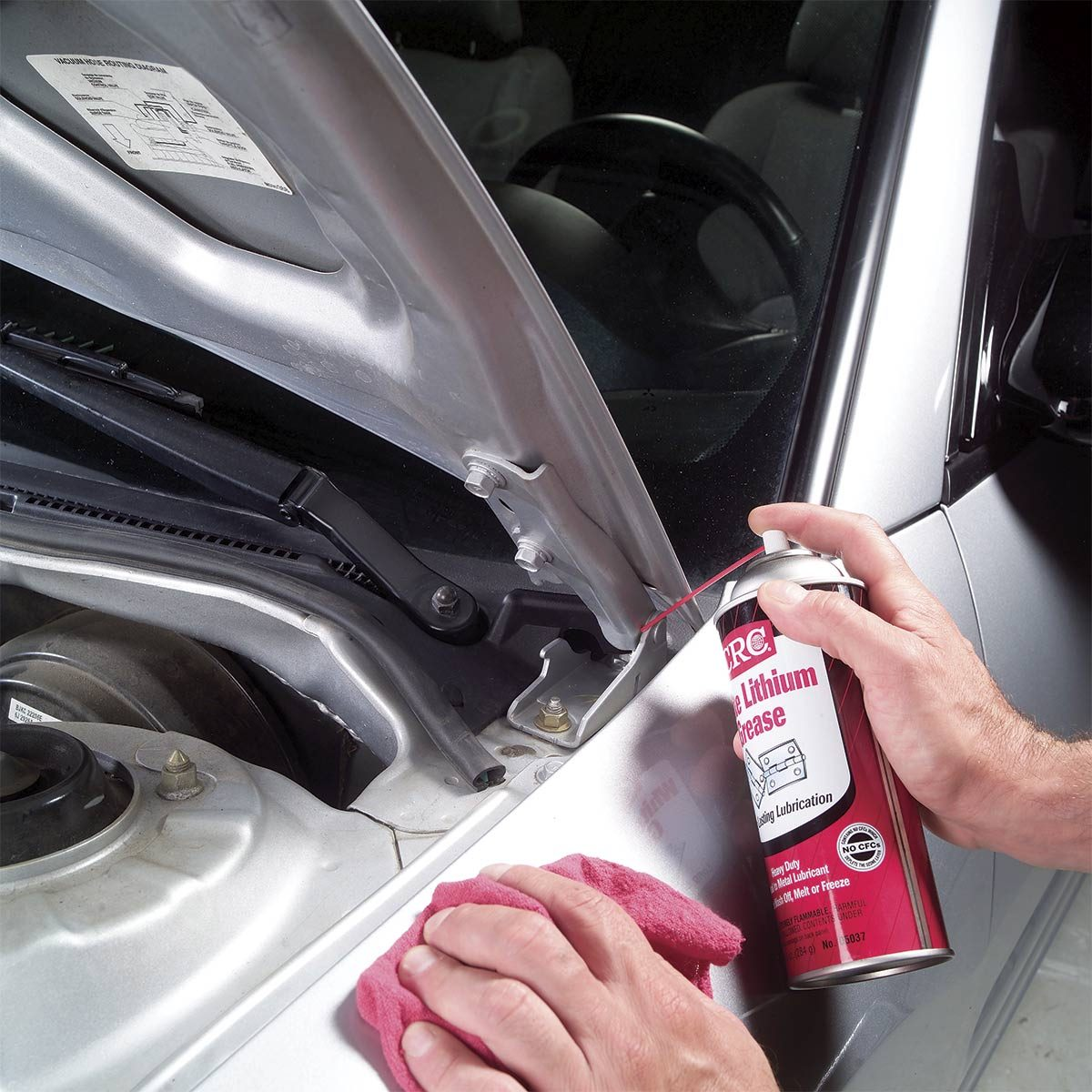 36 diy car detailing tips the family handyman lubricate hood hinges solutioingenieria