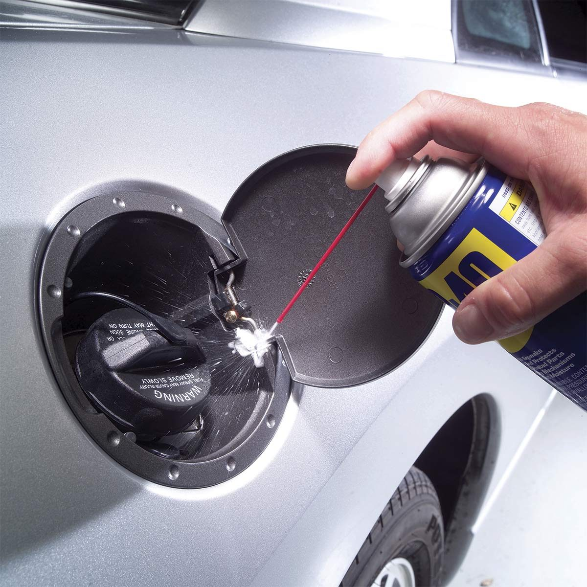 WD 40 Uses on Cars: Lubricate the Gas Tank Lid