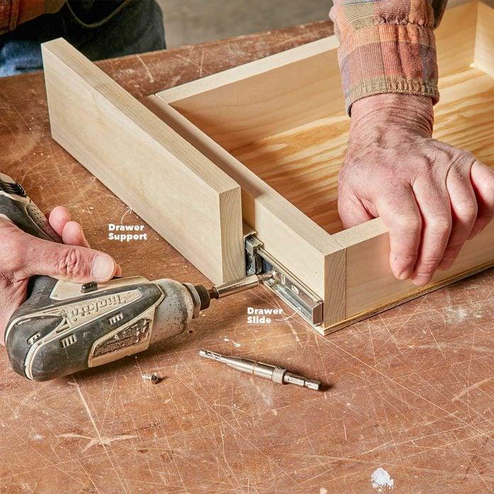 join under-cabinet drawer slide and drawer