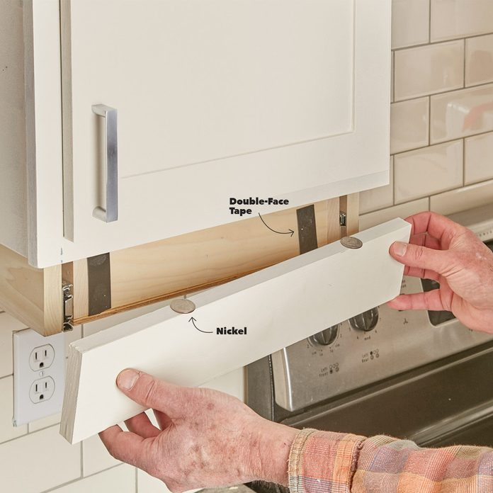 place under-cabinet drawer front on