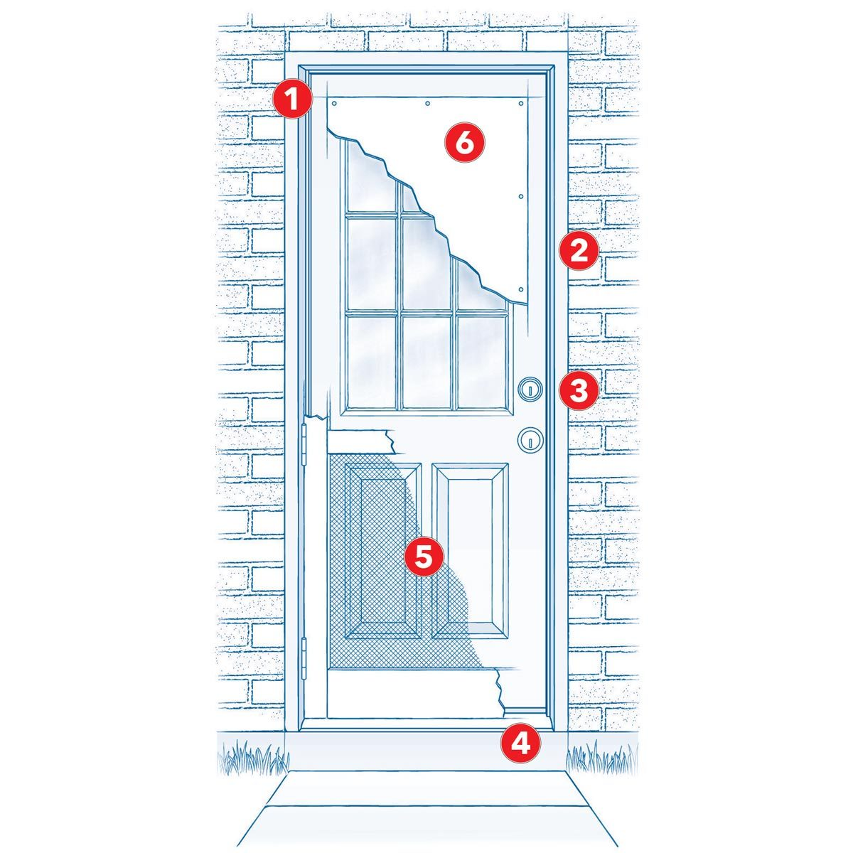 Storm Guide How To Strengthen Doors The Family Handyman