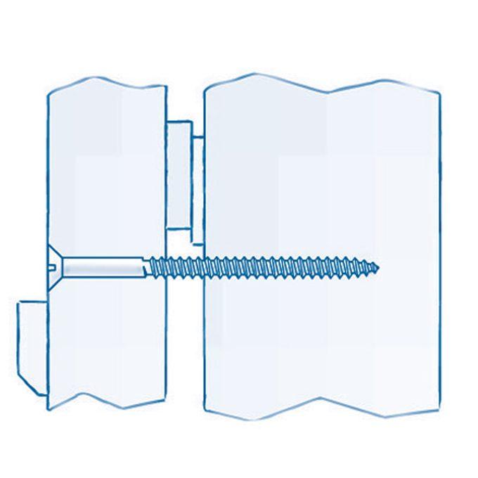 secure door frames with 3 inch screws