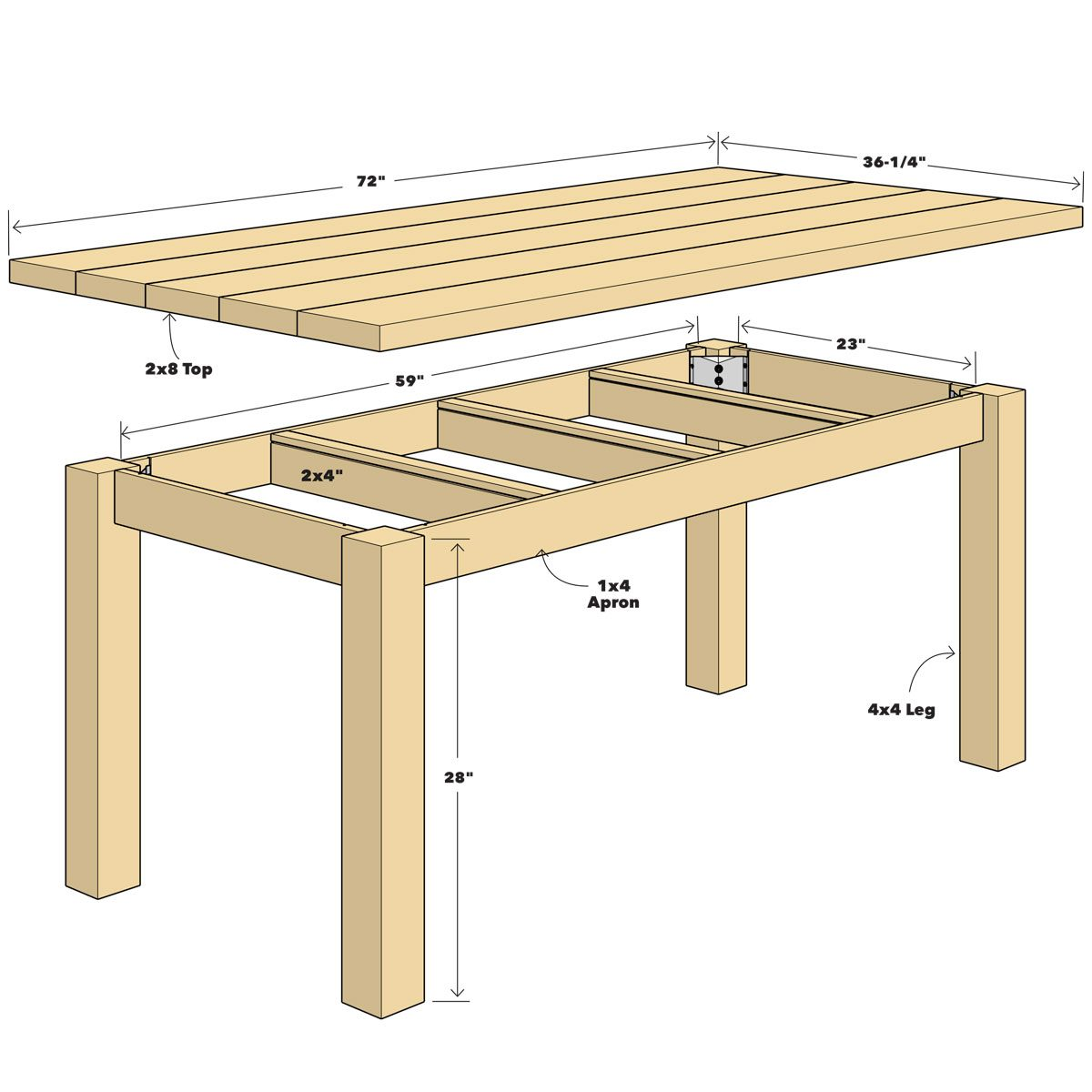 How to build a simple table Kitchen Reclaimed Wood Table Build Simple The Family Handyman Build Simple Reclaimed Wood Table The Family Handyman
