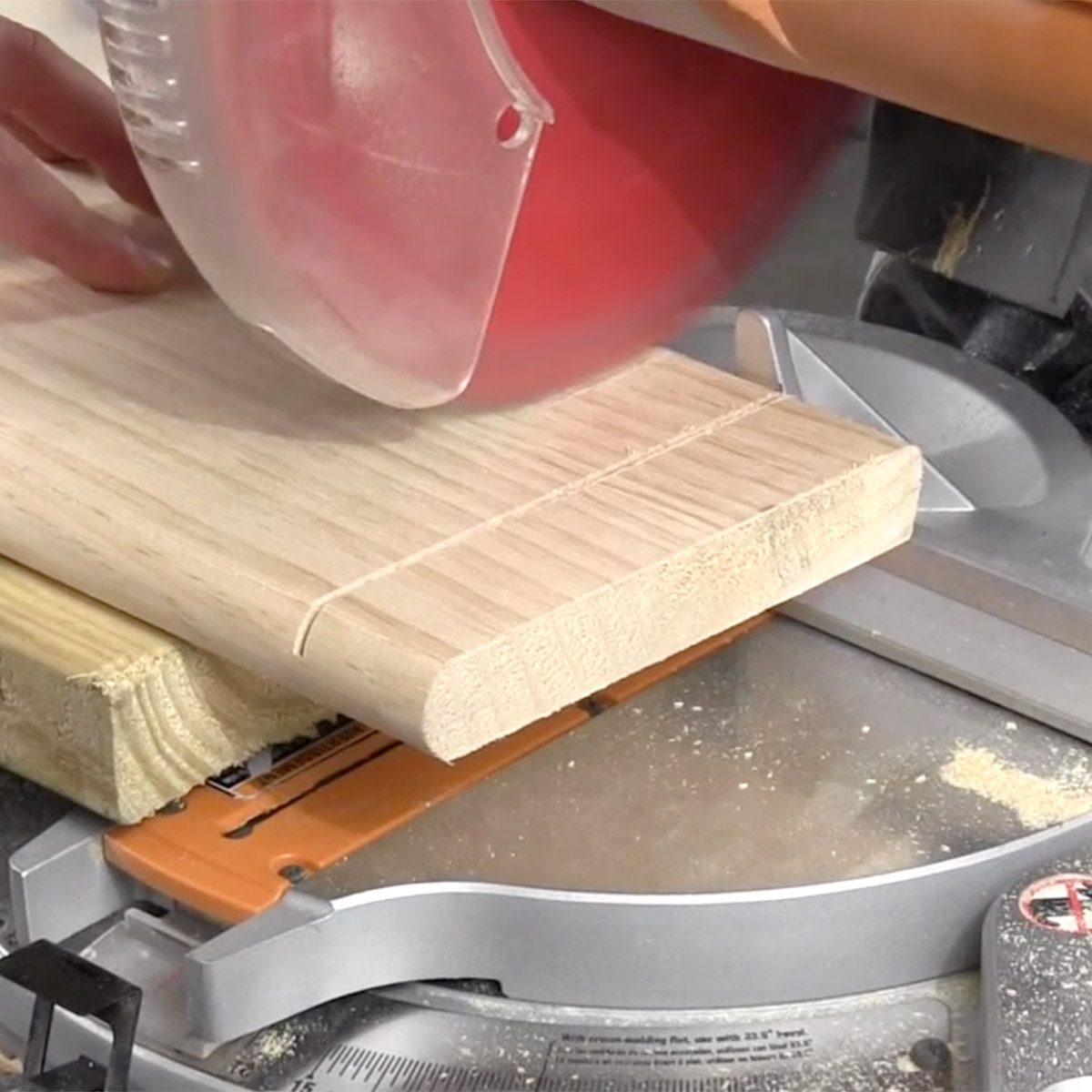 Cut a Wide Board with a Miter Saw