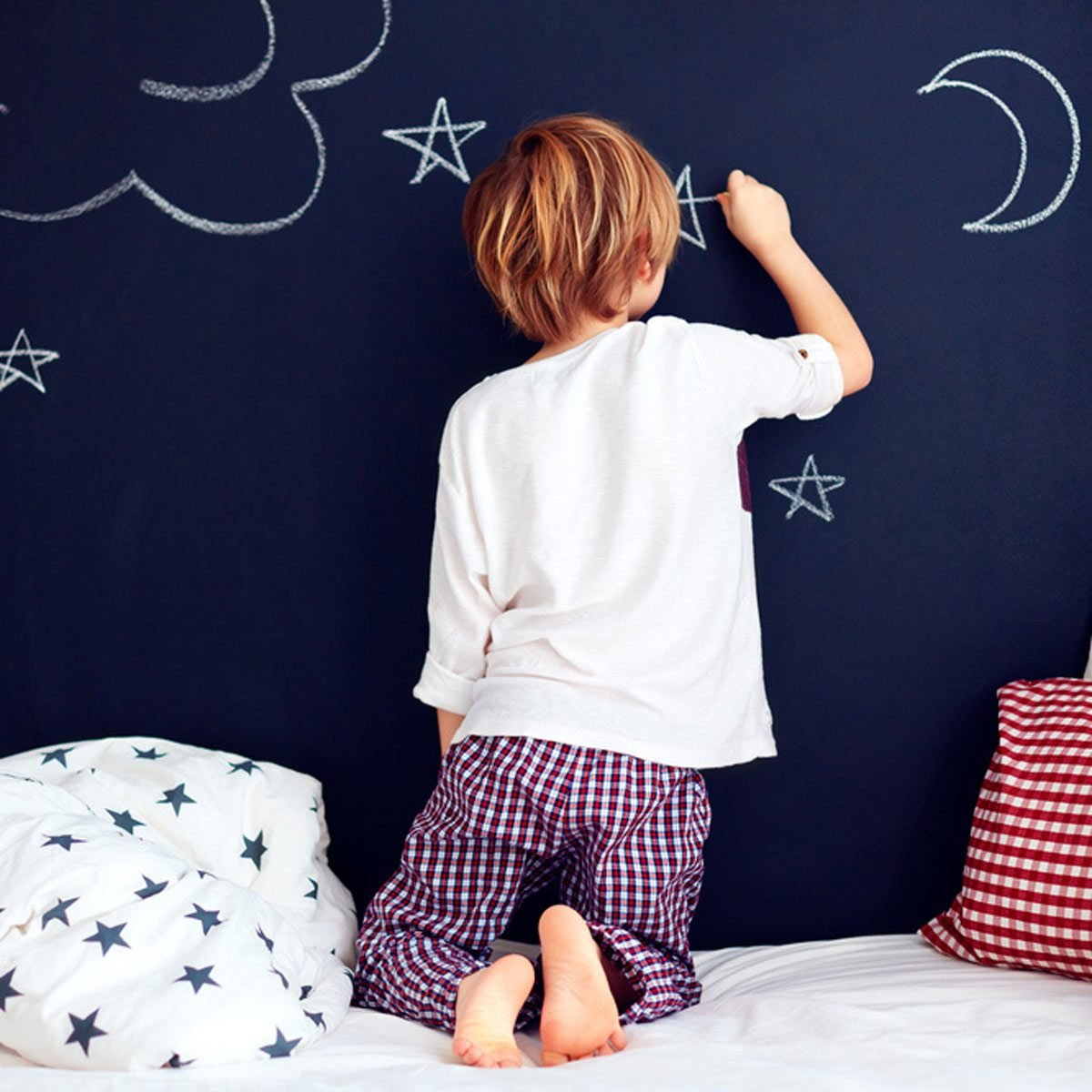 Turn a wall into a chalkboard