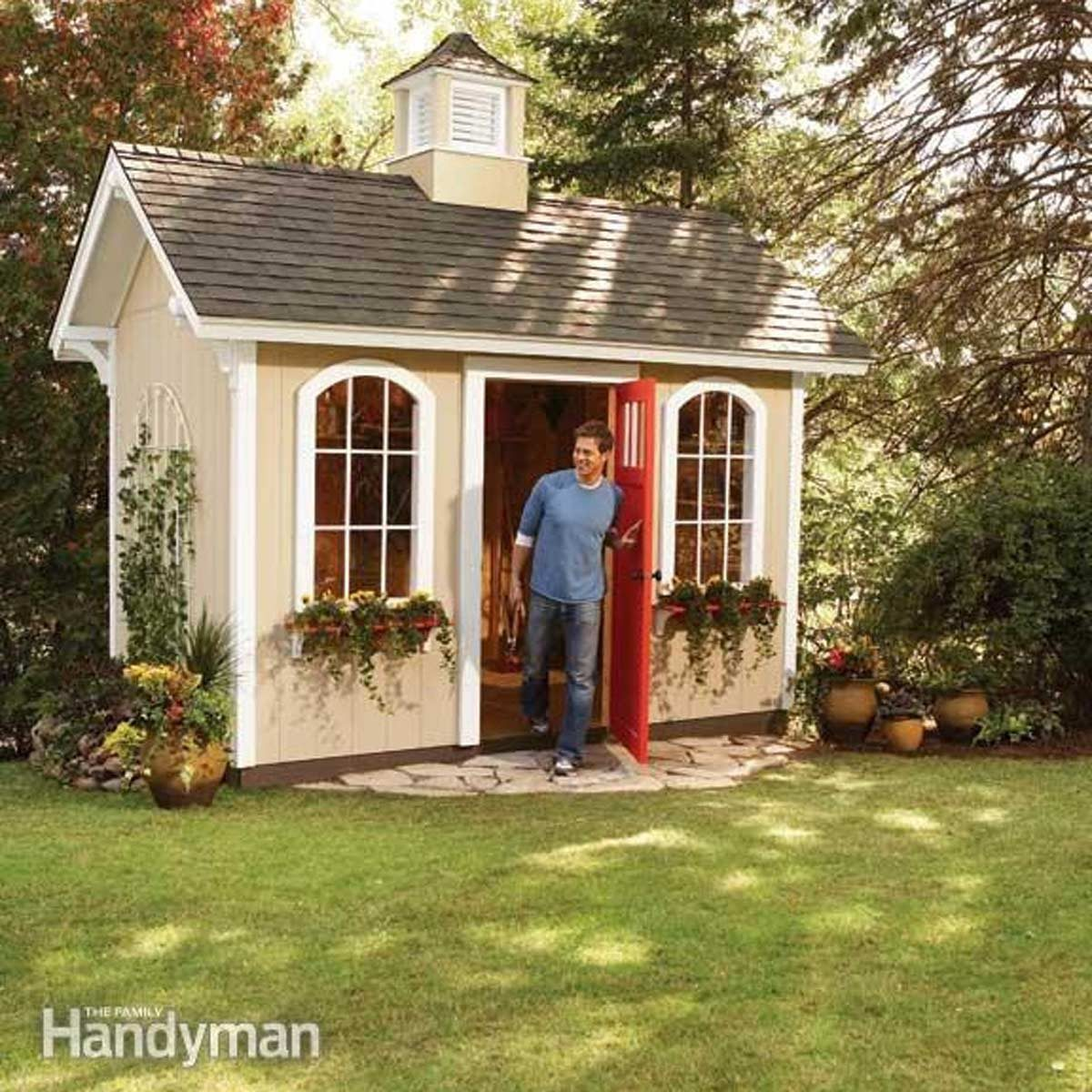 24 tips for turning a shed into a tiny hideaway the for Tips for building a house on a budget