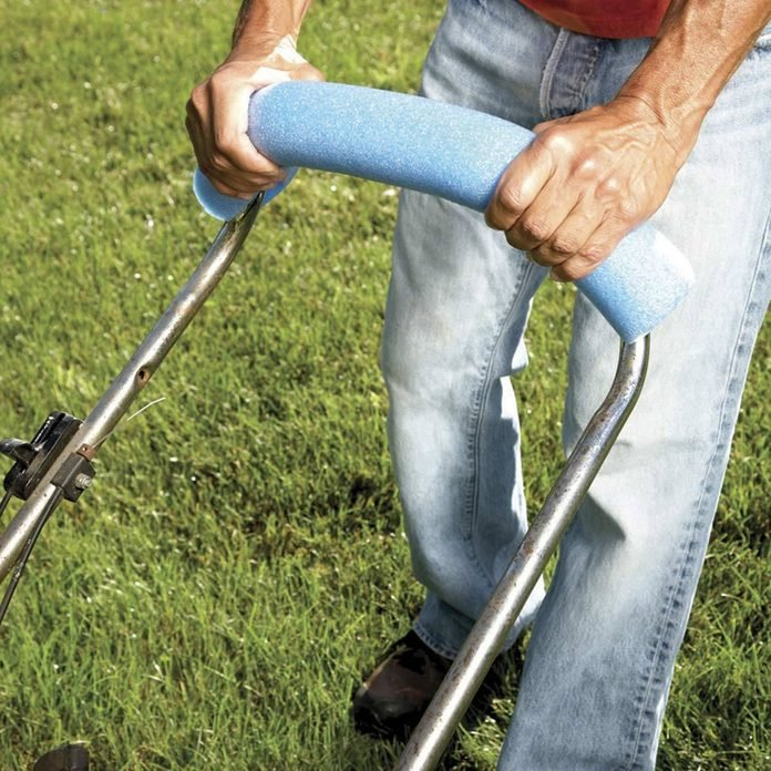 """Myth: """"If I wear lawn aerator shoes while mowing my lawn, I can kill two birds with one stone."""""""