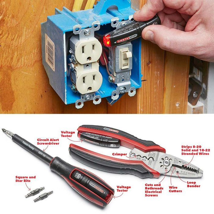Electrical Tools with Onboard Voltage Tester
