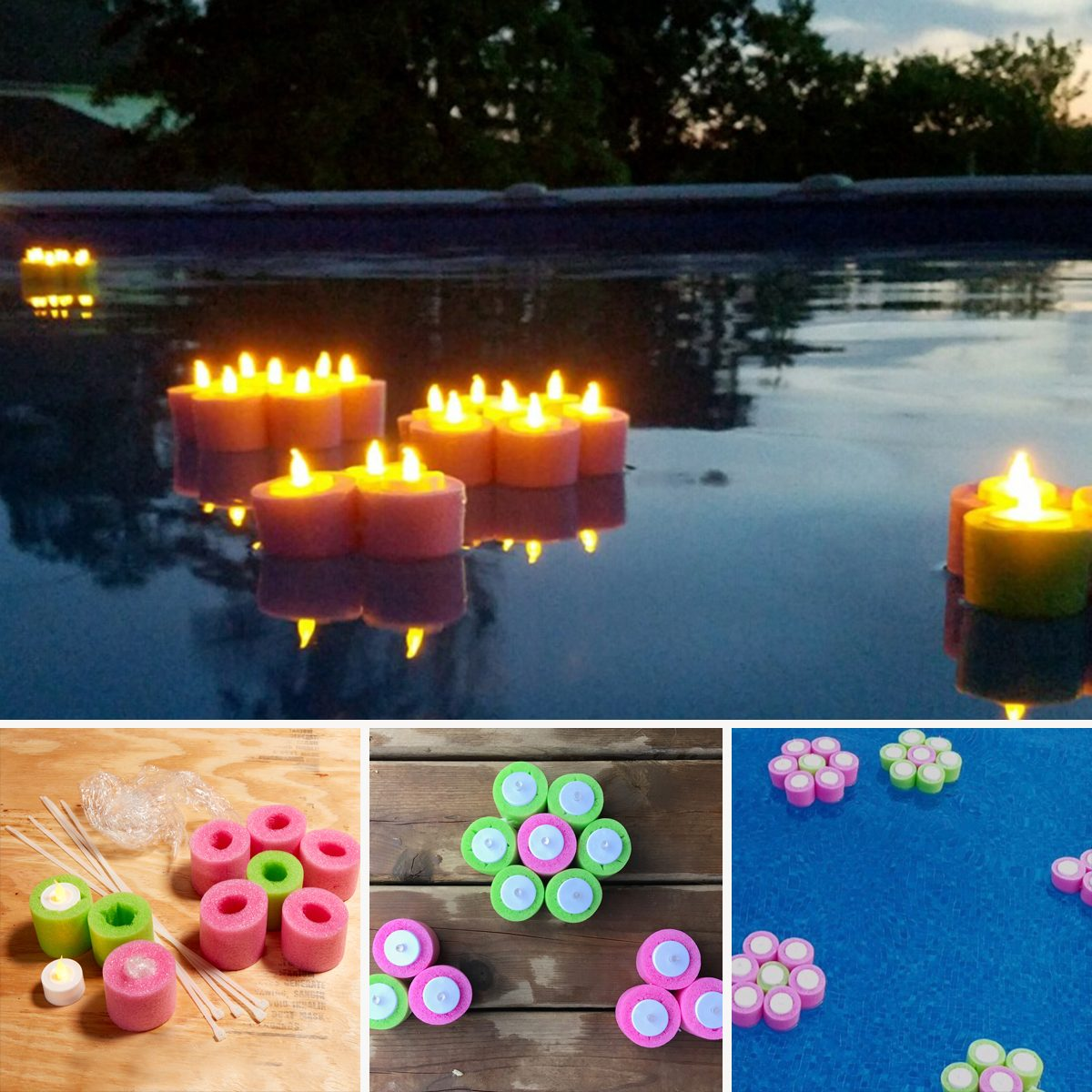 Floating Flower Tea Lights