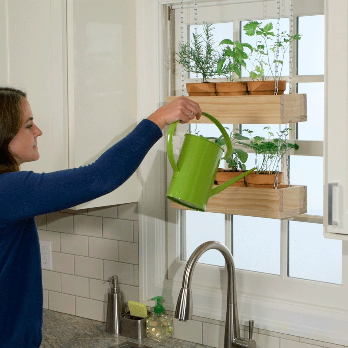 How To Build A Hanging Herb Garden The Family Handyman