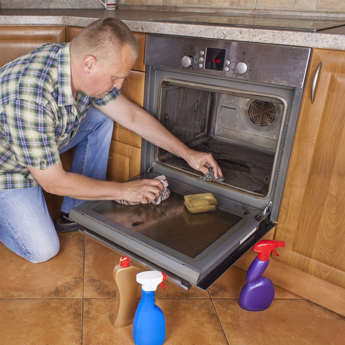 Clean the oven