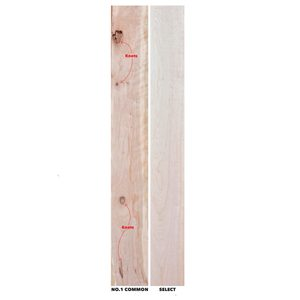 lumber wood grades with knots