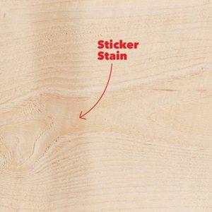 wood sticker stain