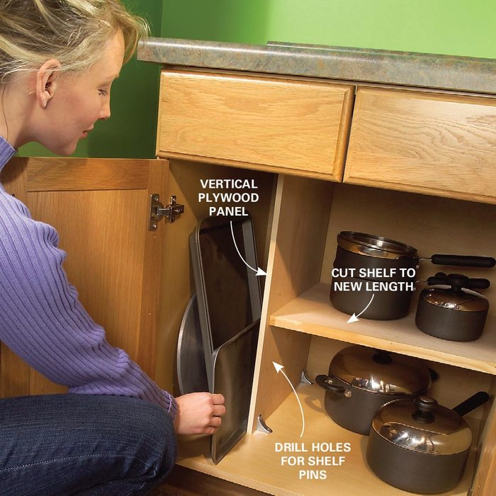 Vertical Cabinet Space