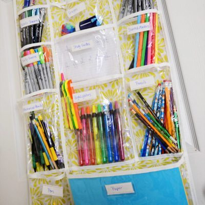Shoe rack school supplies organizer