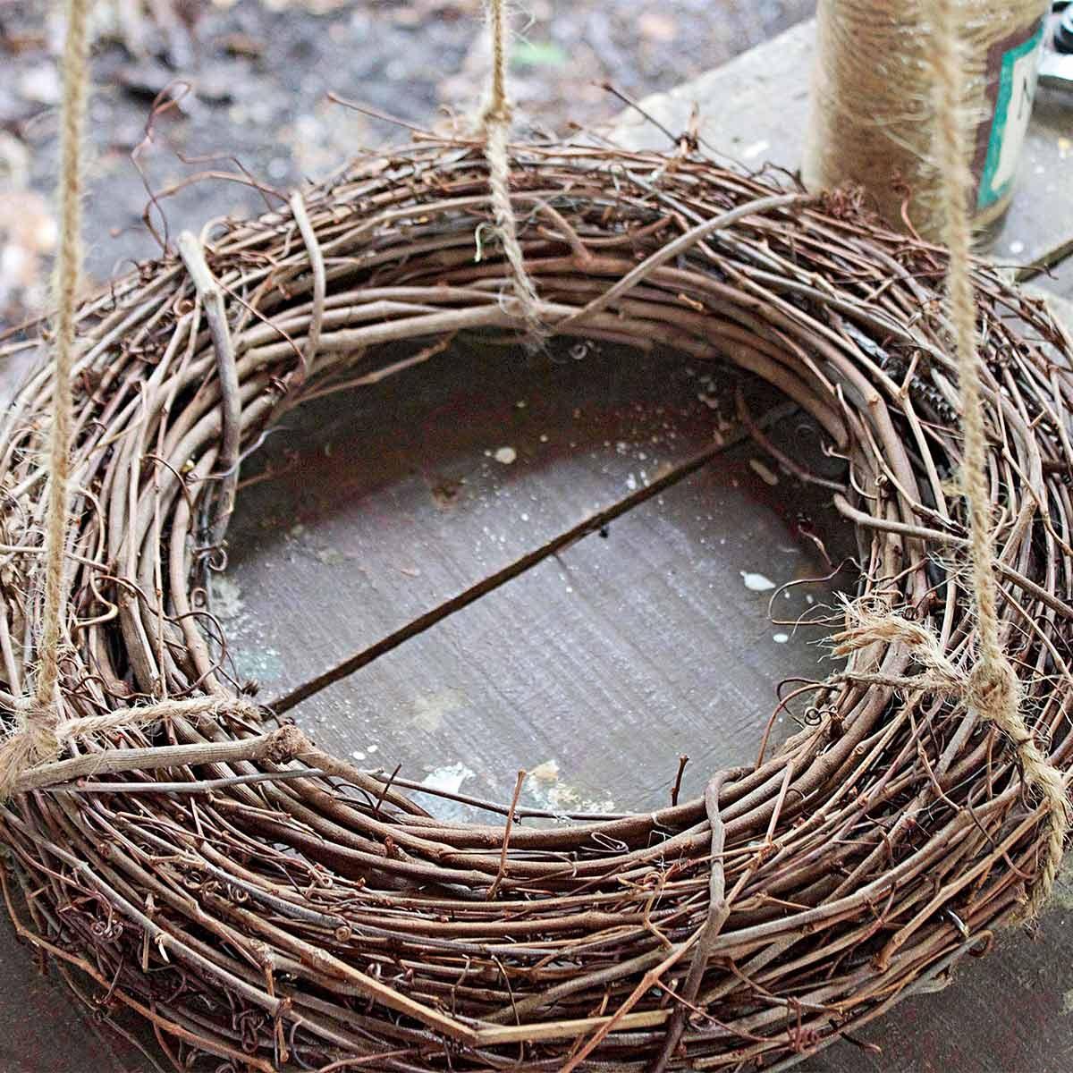 bird feeder wreath