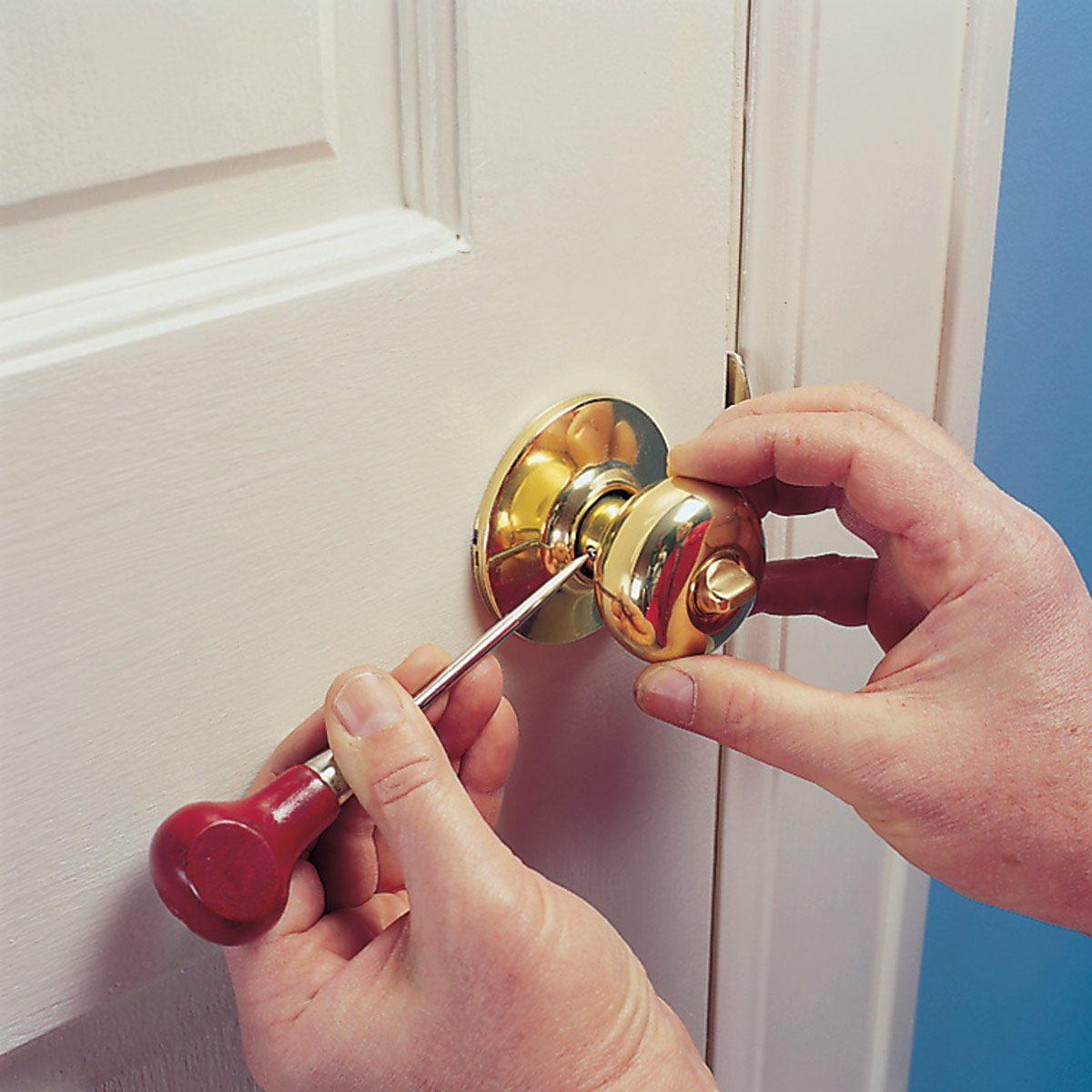 How to Fix a Loose Doorknob
