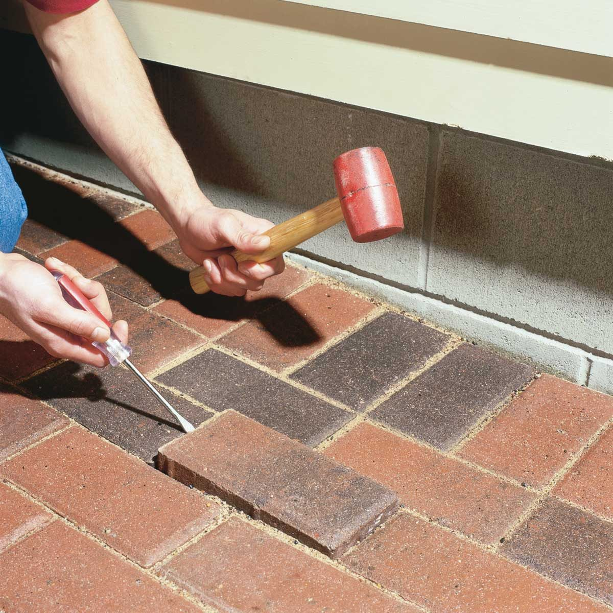 Raise Sunken Patio Pavers