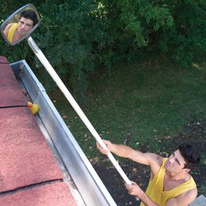 clean gutters mirror