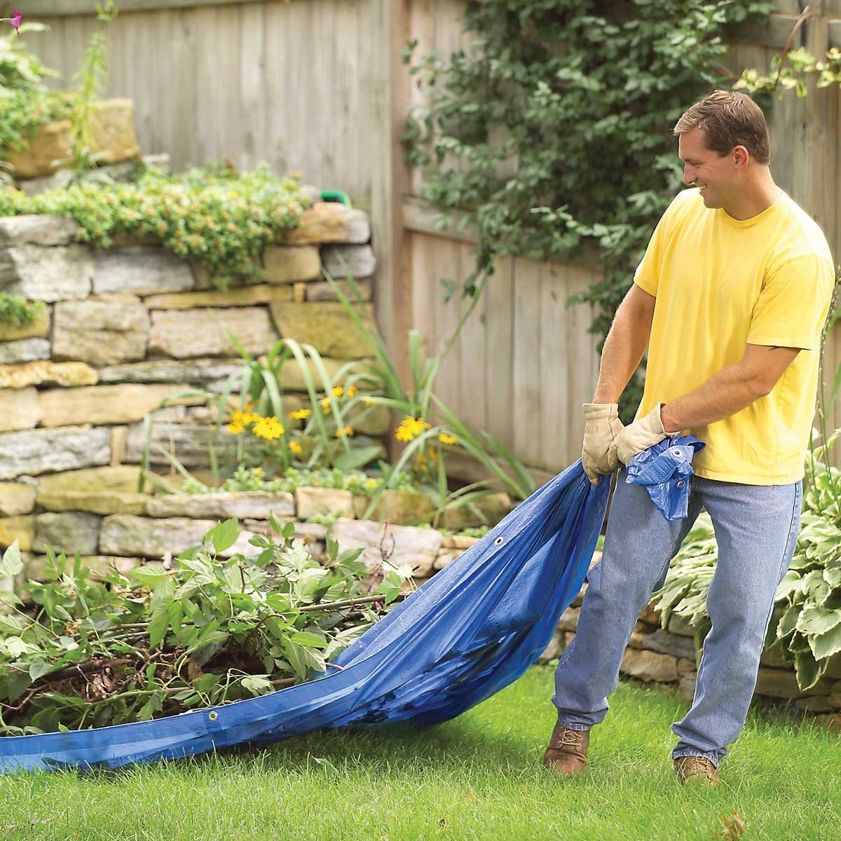 tarp for lawn clippings