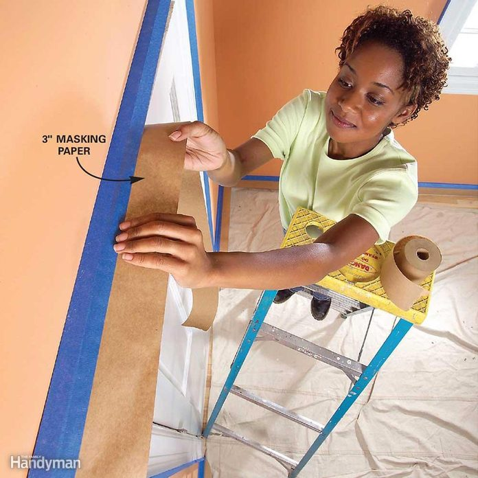 Interior Paint Prep Trim treatment