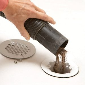 wet dry vacuum drain clogs