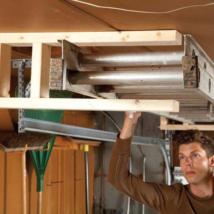 overhead ladder storage