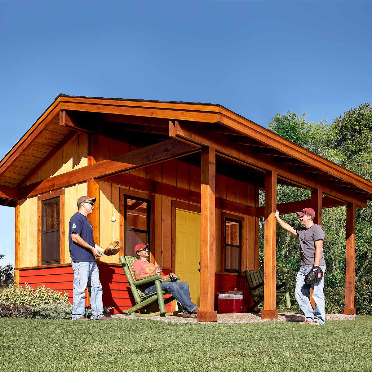 Reader project shed plus shelter the family handyman for Shed project