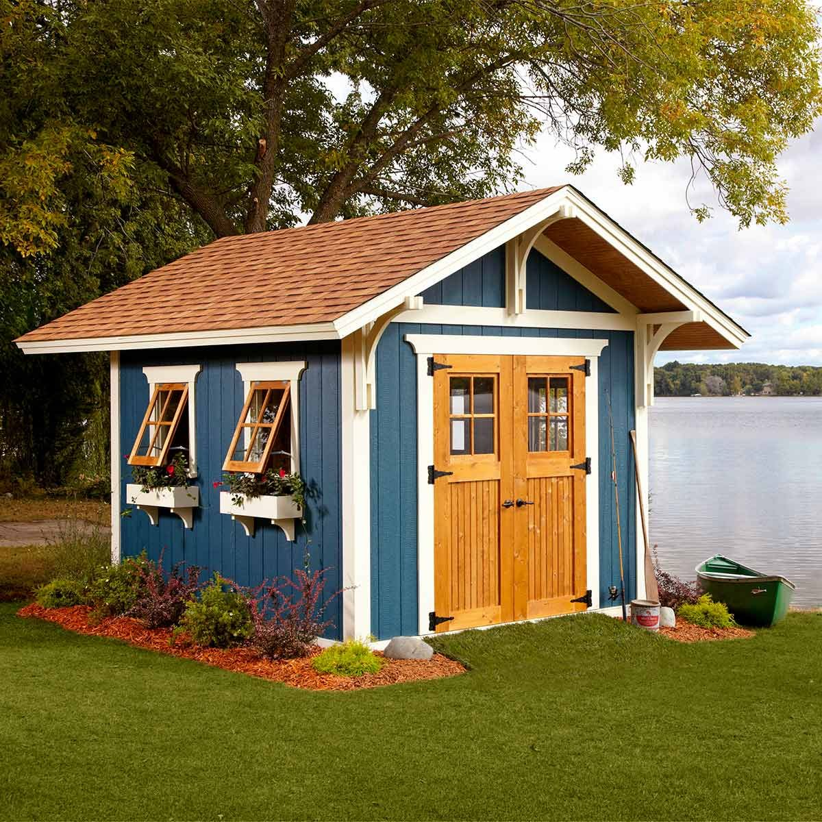 Reader project modified dream shed the family handyman for Shed project