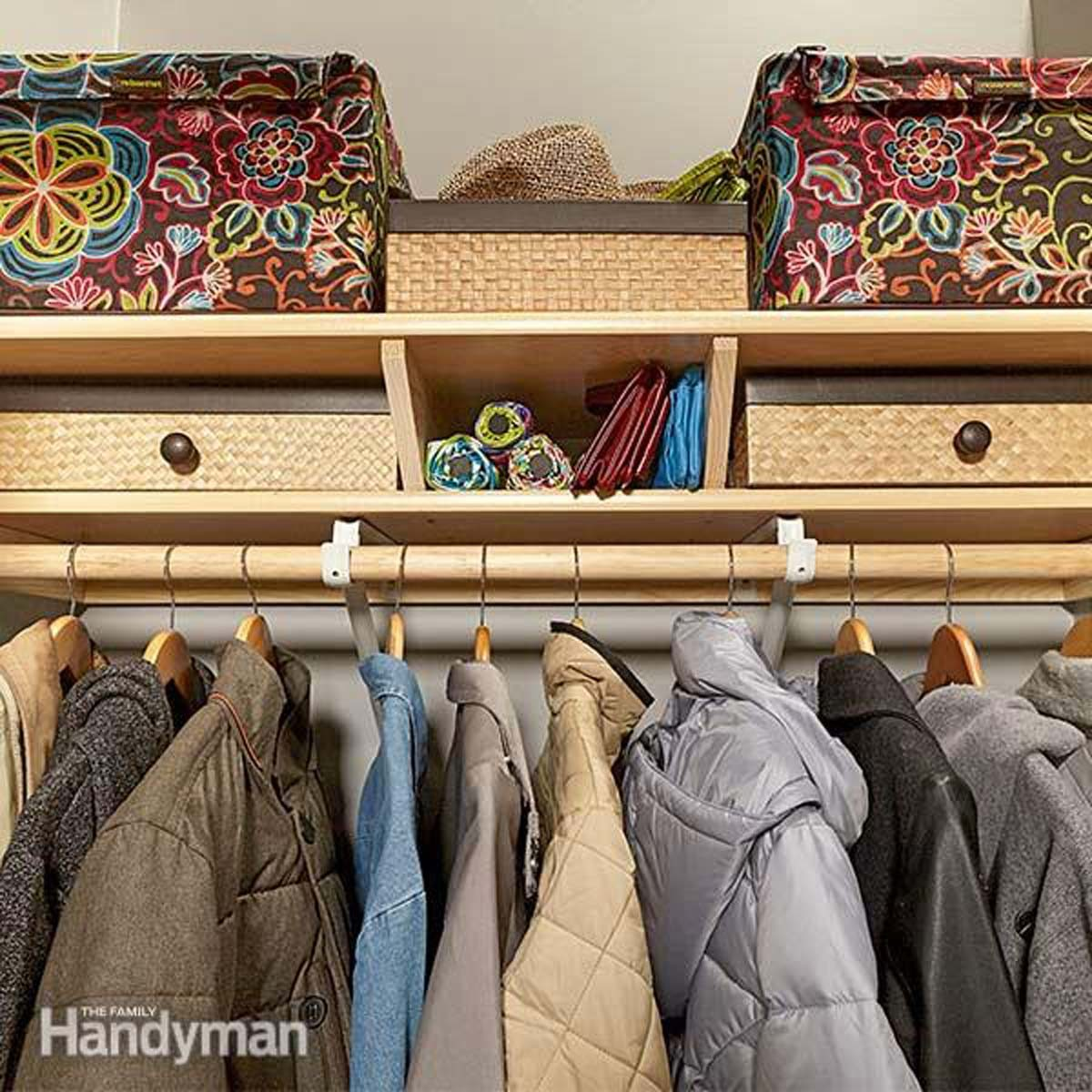 coat closet organization shelves