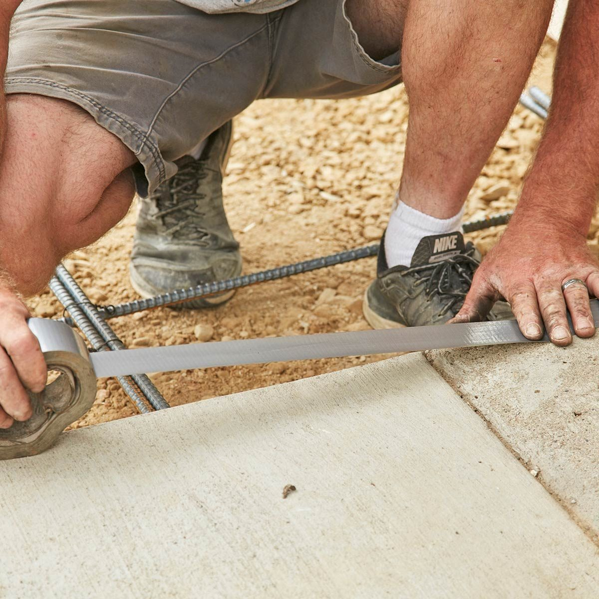 How To Pour A Perfect Concrete Slab The Family Handyman