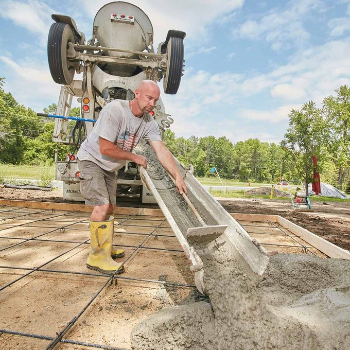 estimate concrete order - pouring concrete slab
