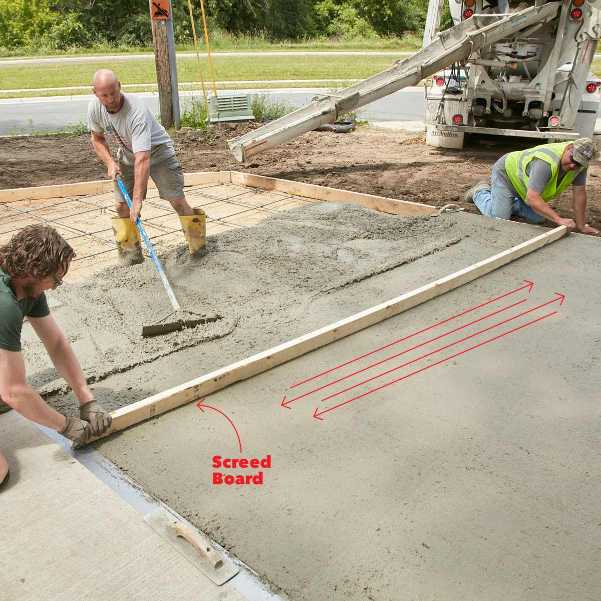 How To Pour A Perfect Concrete Slab Family Handyman
