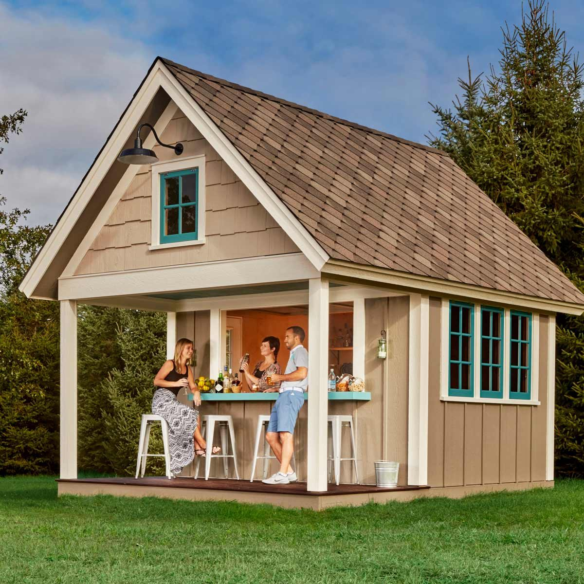 Multi Family Home Floor Plans The Double Duty Pub Shed The Family Handyman