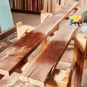 check wood lumber color with water