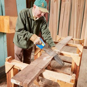 saw wood lumber cut
