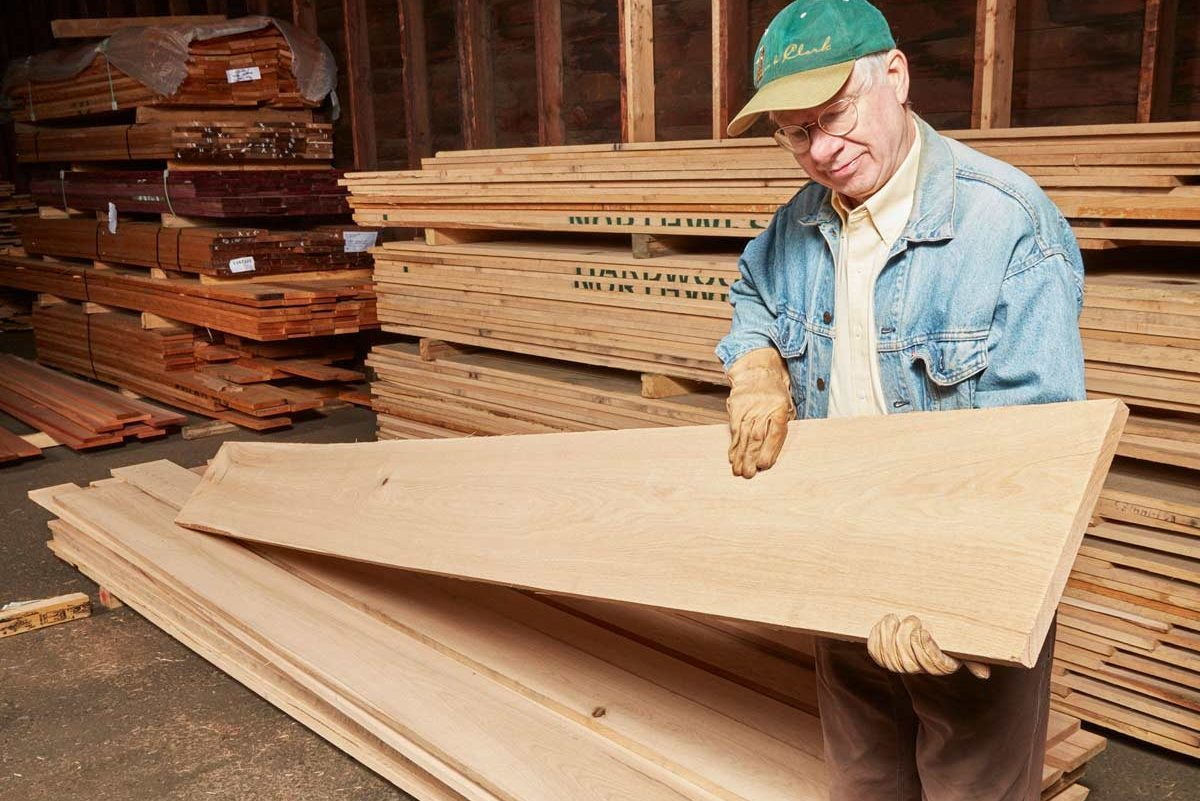 wide piece of wood lumber