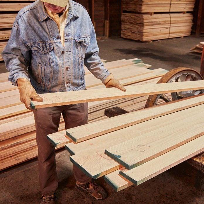 lumber yard wood planks