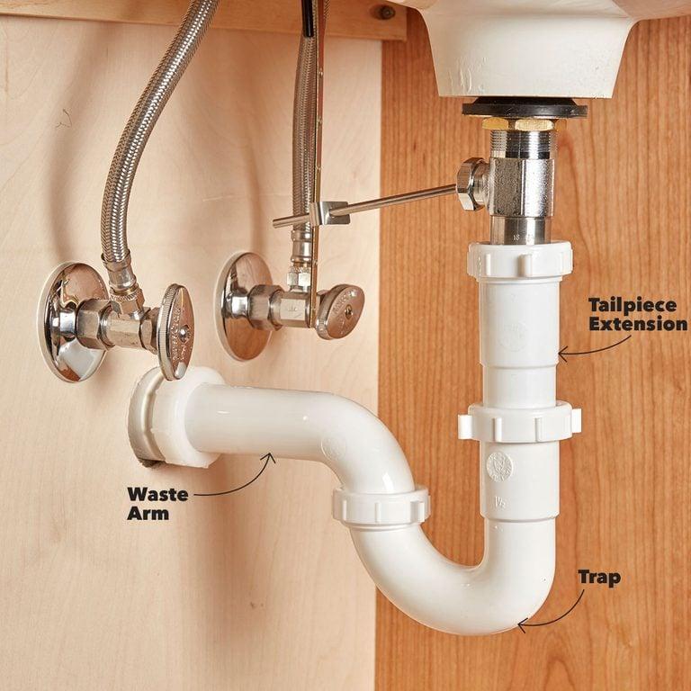 Correct sink trap