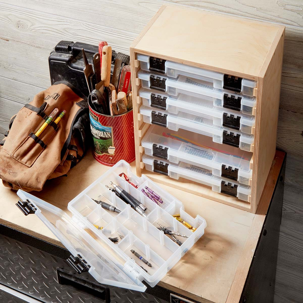 Easy To Build Benchtop Organizer The Family Handyman