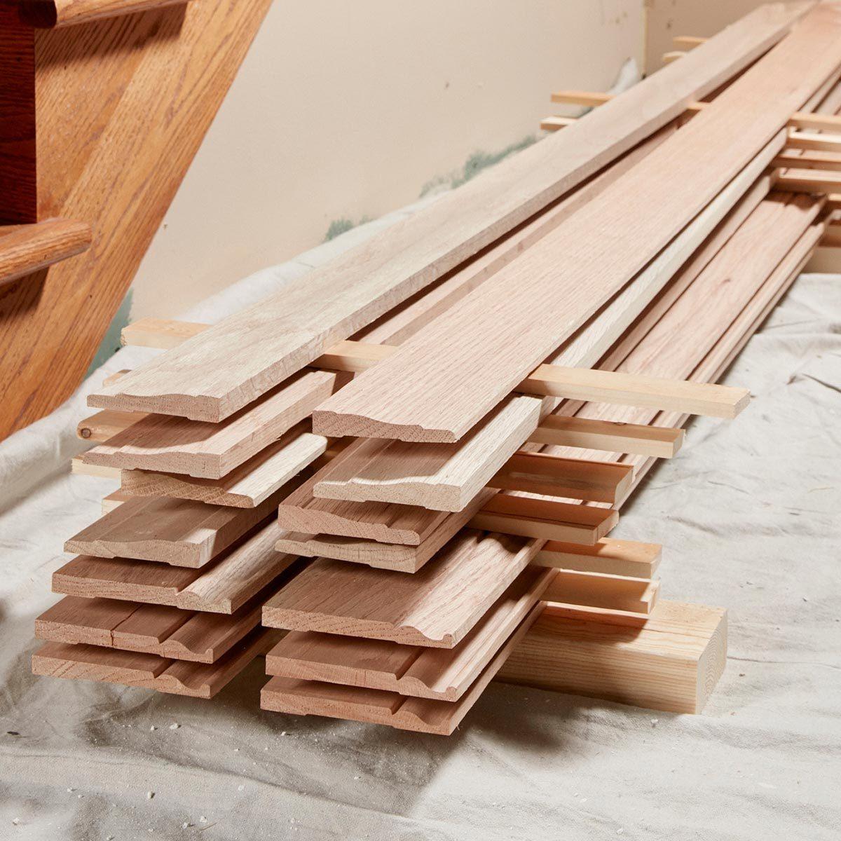 Let wood acclimate