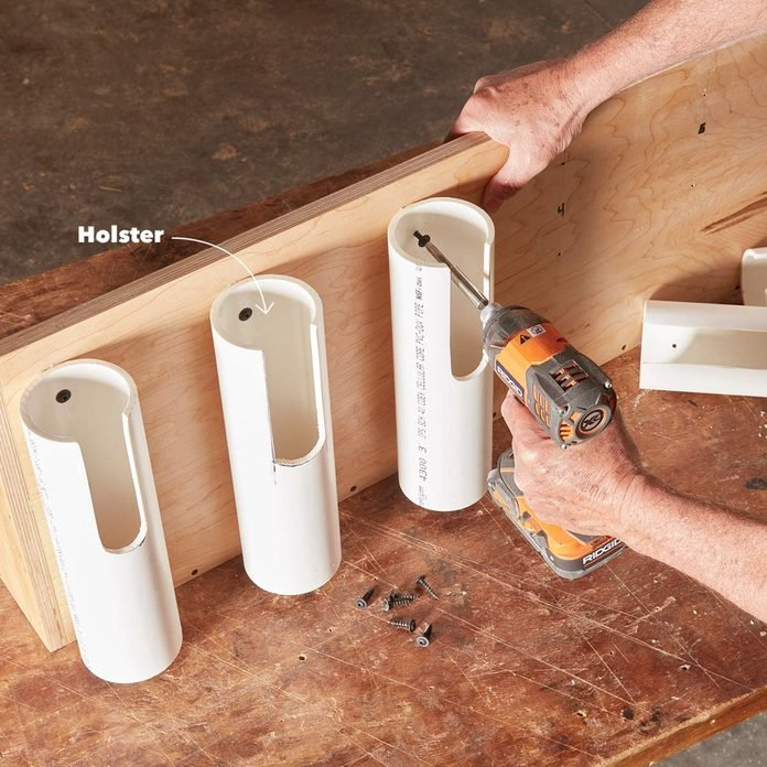 PVC pipe holsters project