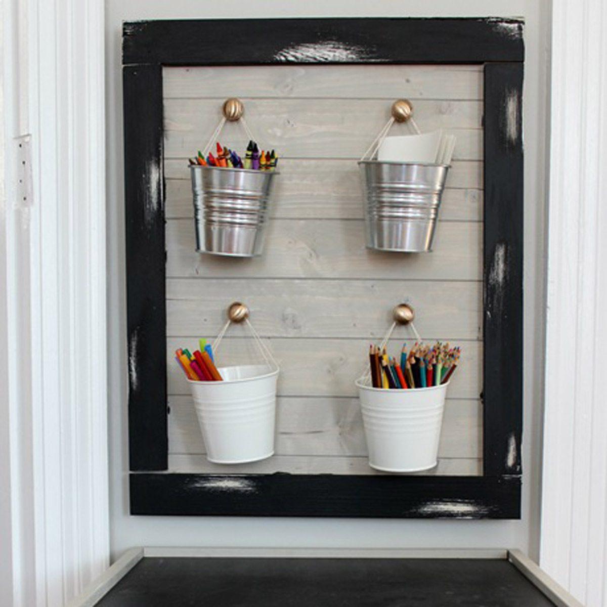 Kids-Art-Station_thumb Hang Galvanized Pails school supplies crafts organization storage