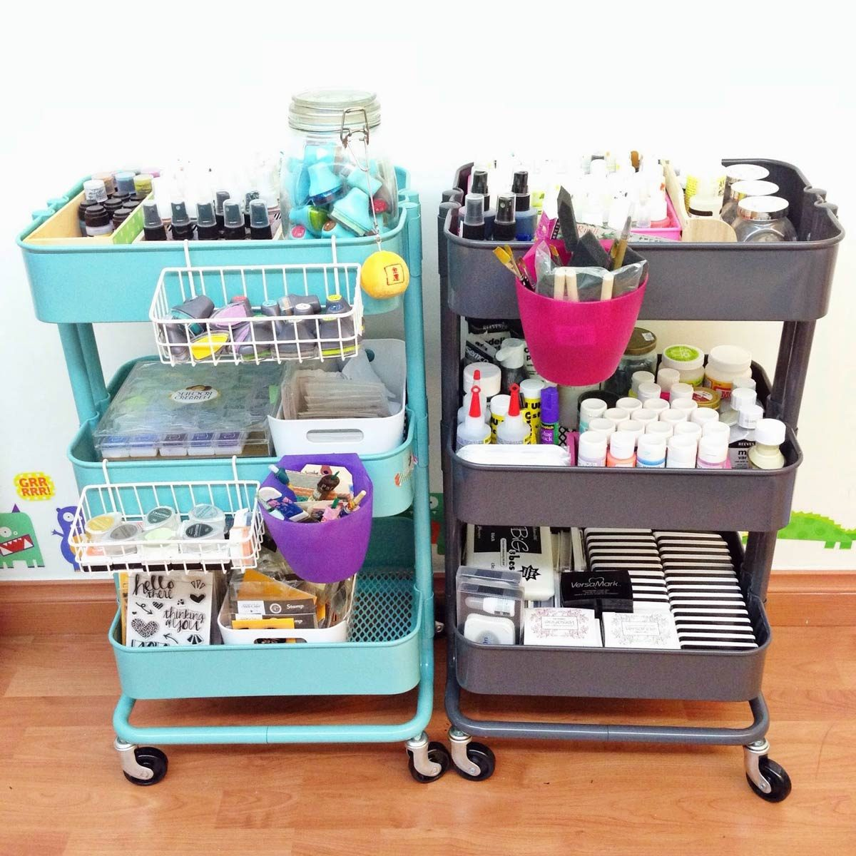 How to be Organized for School: Utilize a Kitchen Cart